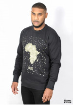"Sweat crewneck Sinan Hill ""pépite d'or"""