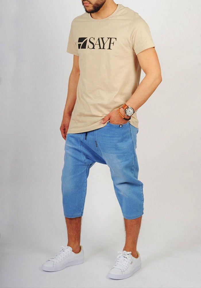 Sarouel jeans bleu clair