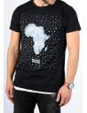 """T-shirt Sinan Hill """"Pépite de sable"""" noir et blanc"""