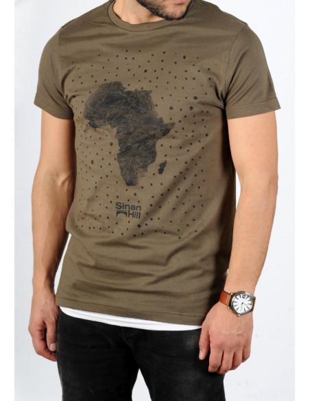 """T-shirt Sinan Hill """"Pépite de sable"""" Kaki"""