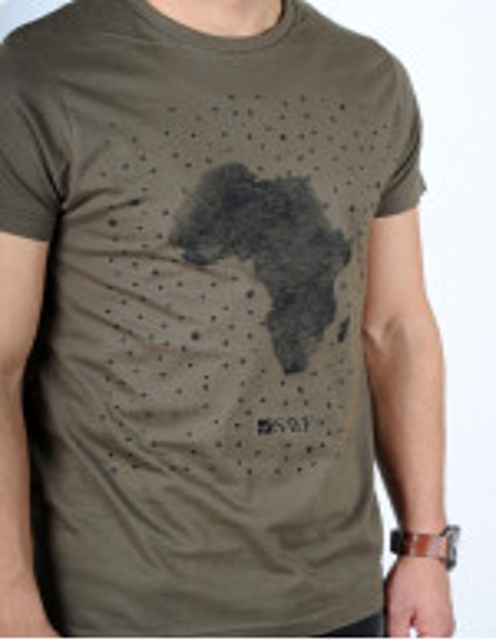 "T-shirt SAYF ""grande Afrique"" (kaki)"