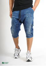 Sarouel short SAYF blue denim'