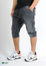 Sarouel short SAYF black denim'