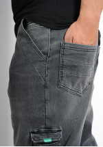 Sarouel bermuda SAYF black denim'