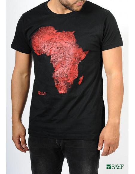 T-shirt SAYF géante Afrique (noir et rouge)