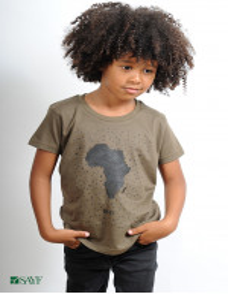 "T-shirt enfant ""grande Afrique"" kaki"