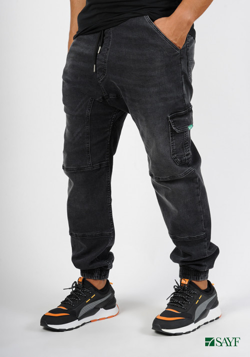 Sarouel jean's SAYF black denim