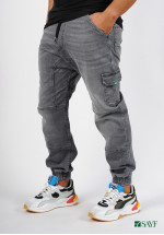 Sarouel jean's SAYF grey denim