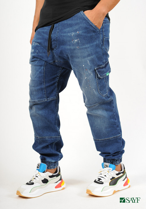 Sarouel jean's SAYF blue denim