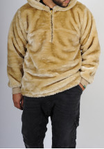 "Sweat fourrure SAYF ""into the wild"" (beige)"