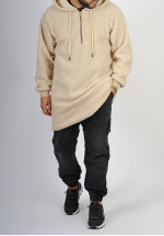 Sweat qamis SAYF moutonné (beige)