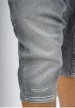 Sarouel bermuda SAYF grey denim'