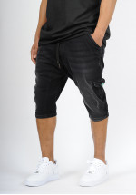 Sarouel bermuda SAYF black denim