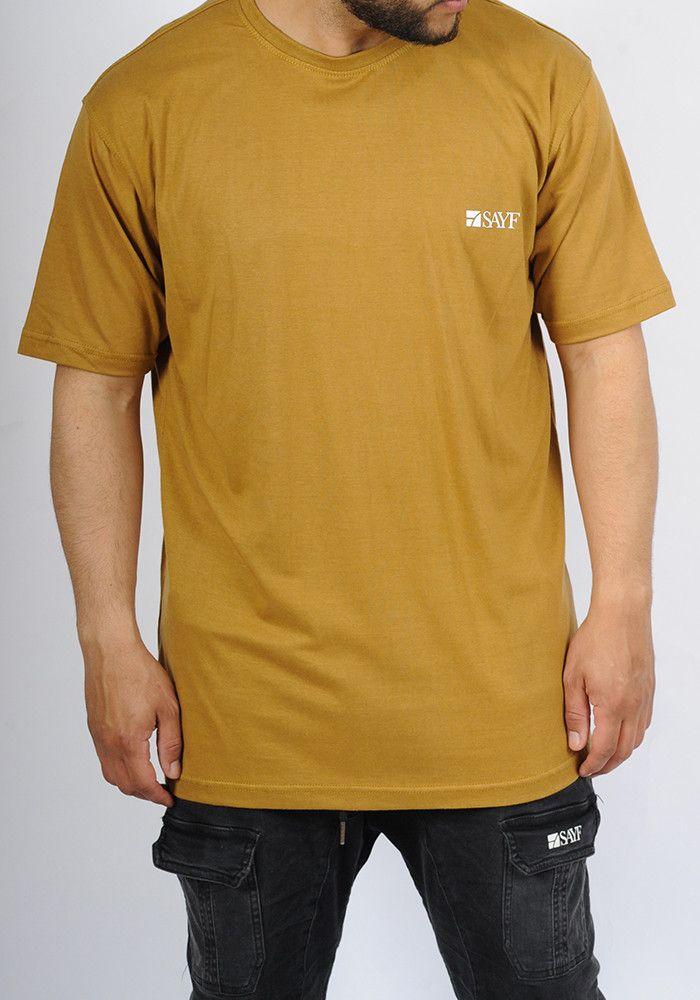 SAYF camel oversized t-shirt