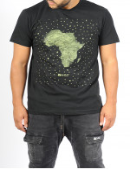 T-shirt SAYF grande Afrique noir- kaki